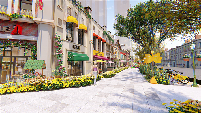 商业街包装设计